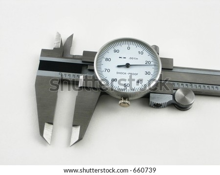caliper gage - stock photo
