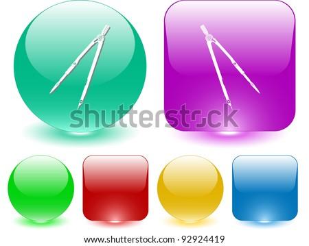 Caliper. Interface element. Raster illustration. - stock photo