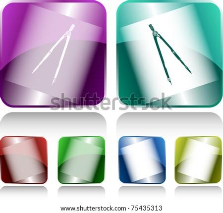 Caliper. Internet buttons. Raster illustration. - stock photo