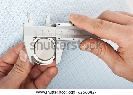 caliper measurement of the size of the details