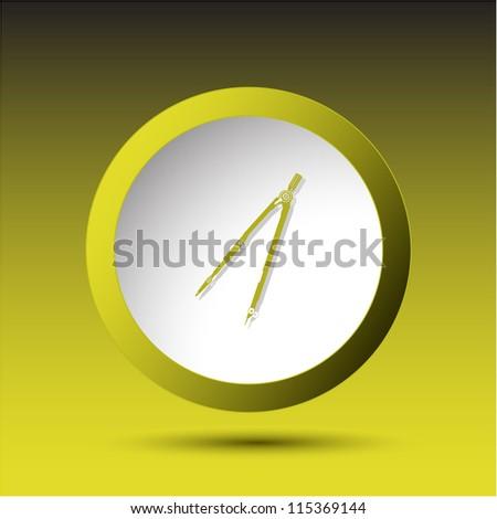 Caliper. Plastic button. Vector illustration. - stock photo