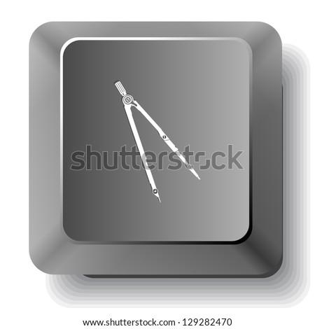 Caliper. Raster computer key. - stock photo
