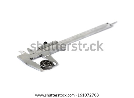 caliper with bearing on white background - stock photo