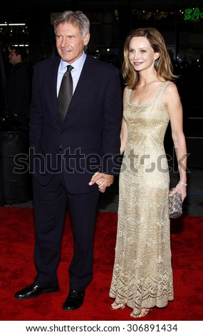 Calista Flockhart and Harrison Ford at the Los Angeles premiere of 'Extraordinary Measures' held at the Grauman's Chinese Theater in Hollywood, USA on January 19, 2010.