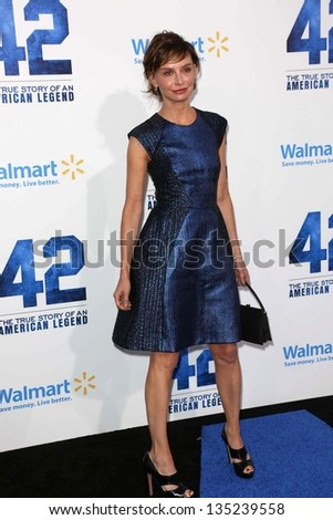 "Calista Flockhart at the ""42"" Los Angeles Premiere, Chinese Theater, Hollywood, CA 04-09-13"