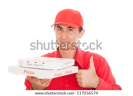 call a pizza - stock photo