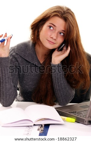 call by phone - stock photo