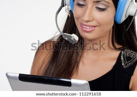 Call Center Assistant - stock photo