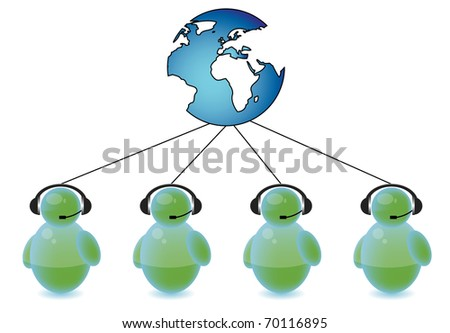 Call center connected to the world