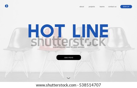 Call Center Hot Line Information Concept