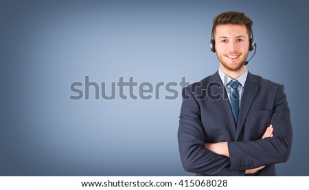 Call Center Office, Customer Service Support - stock photo