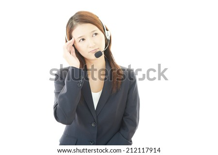 Call center operator having a headache