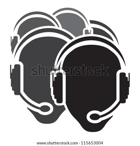 Call center vector icon - stock photo