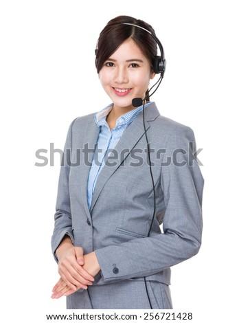 Call centre help desk supportor - stock photo