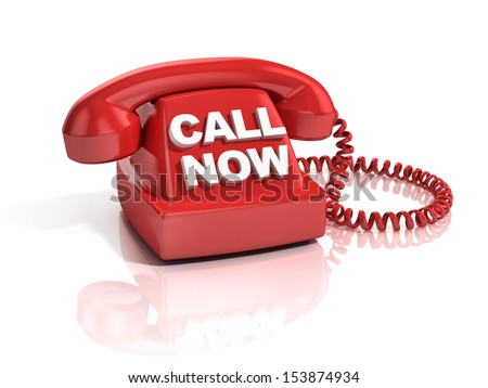 call now 3d icon - stock photo