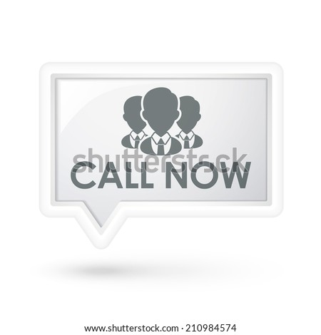 call now words with services on a speech bubble over white - stock photo