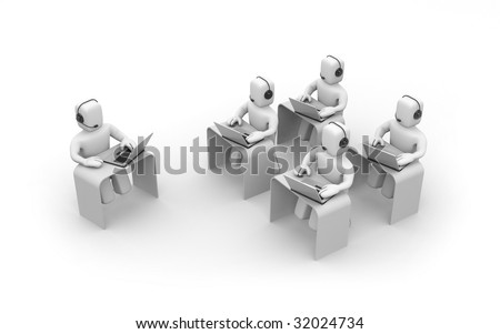 Callcenter - stock photo