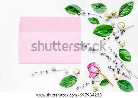calligraphy floral pattern top view mock up