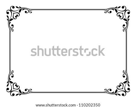 calligraphy ornamental decorative frame - stock photo
