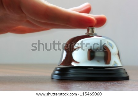 Calling service bell - stock photo