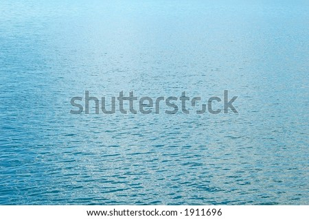 Calm blue water - stock photo