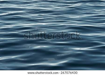 Calm green water reflection - stock photo