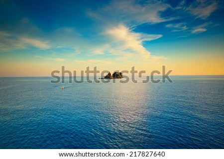 Calm sea and blue  sky - stock photo