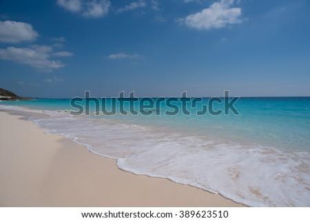 Calm tropical beach - stock photo