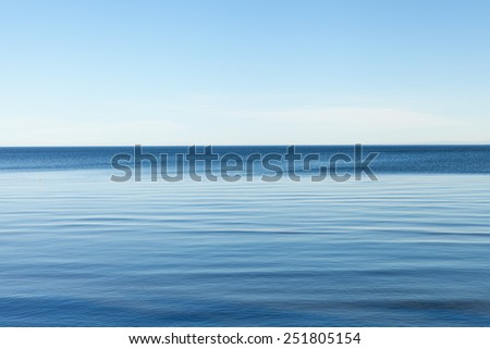 Calm weather in gulf of Riga, Baltic sea. - stock photo
