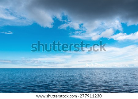 Calm weather in gulf of Riga, Baltic sea. - stock photo