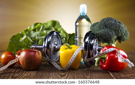 Calorie, Kilograms, Sport diet - stock photo