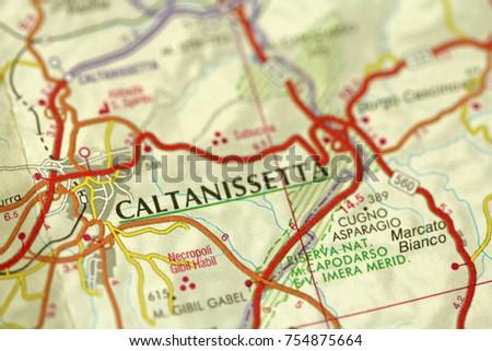 Caltanissetta Map Stock Images RoyaltyFree Images Vectors
