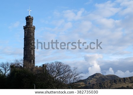 Calton Hill, a hill in central Edinburgh, Scotland