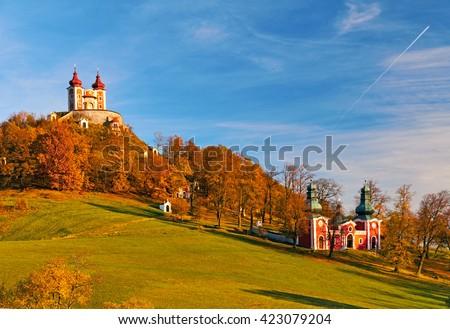 Calvary Banska Stiavnica is the most important Baroque calvary in Slovakia - stock photo