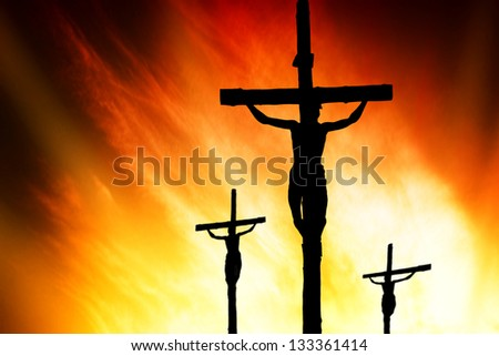 Calvary crucifixion - stock photo