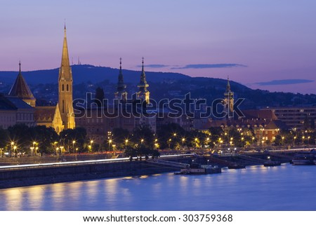 Calvinist Church in the centre of Budapest, Europe