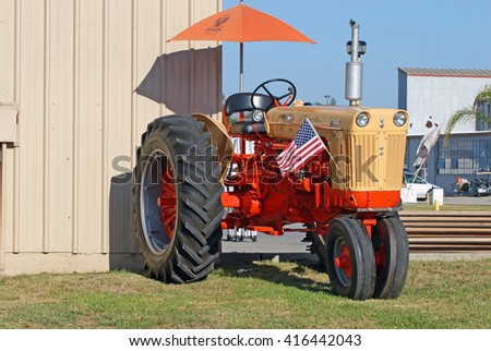 CAMARILLO/CALIFORNIA - AUGUST 23, 2015: Case 800 tractor on display at the Wings Over Camarillo Airshow in Camarillo, California USA
