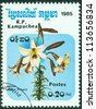 CAMBODIA - CIRCA 1985: A stamp printed in Cambodia shows flower, circa 1985 - stock photo