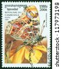 CAMBODIA - CIRCA 1999: stamp printed by Cambodia, shows butterfly, circa 1999 - stock photo