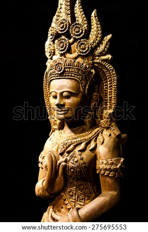 Cambodia wood carving art
