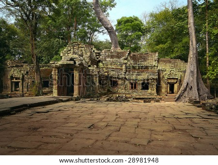 Cambodian temple - stock photo