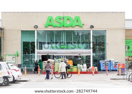 Cambridge England 7 May 2015 Asda Supermarket