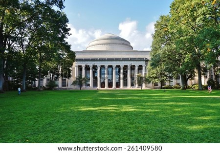CAMBRIDGE, MA -CIRCA OCT 2013- Editorial: Founded in 1861, the Massachusetts Institute of Technology (MIT) is one of the world's leading research universities, especially in engineering and science. - stock photo