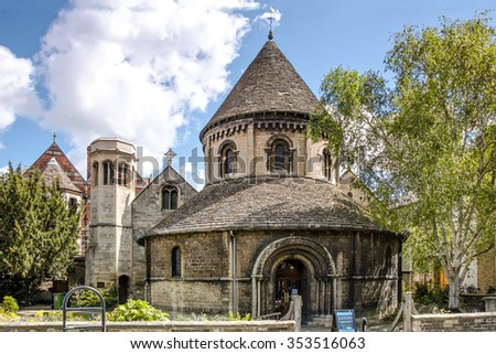 Cambridge, United Kingdom - May 12, 2012: Holy Sepulchre Round Church in Cambridge as seen on 12th of May, 2012.