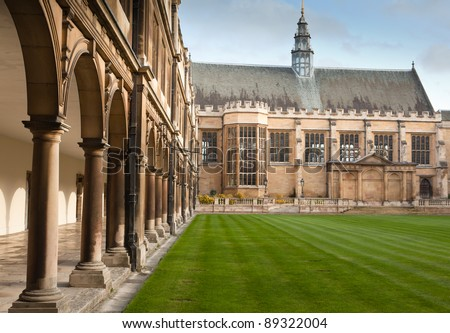 Cambridge University and St Johns College - stock photo