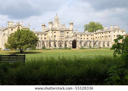Cambridge University, England, Trinity College - stock photo