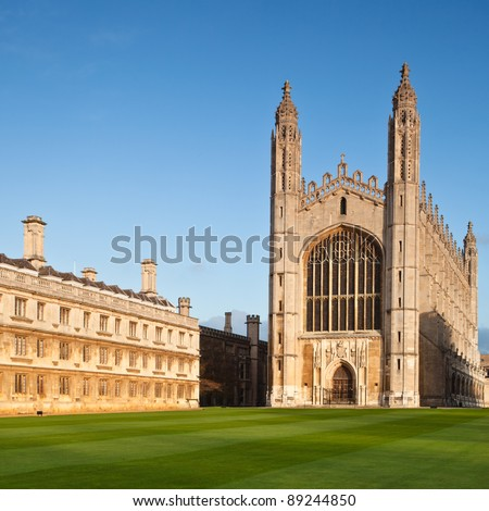 Cambridge University Kings College Chapel - stock photo