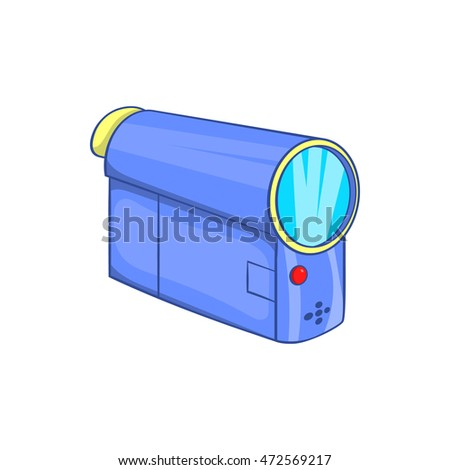 Camcorder icon in cartoon style on a white background