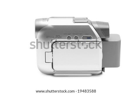 Camcorder isolated