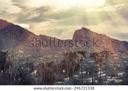 Camelback Mountain, Phoenix,AZ - stock photo